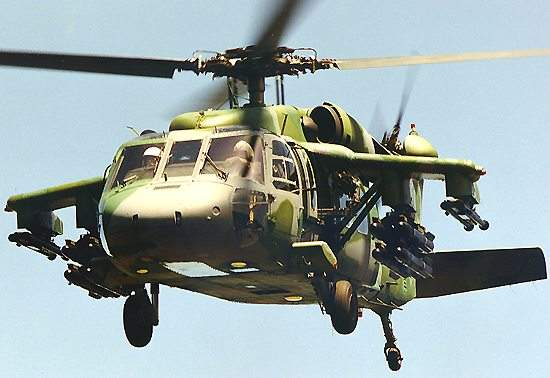 The S-70A Black Hawk helicopter can be armed with a variety of missiles, rockets, machine guns and 20mm cannons.