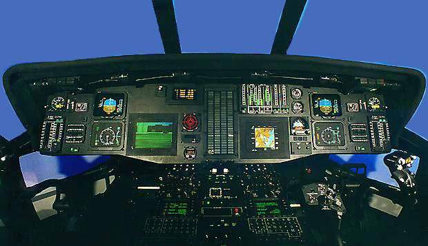 A glass cockpit and digital avionics including digital Automated Flight Computer System (AFCS) and Electronic Flight Information System.