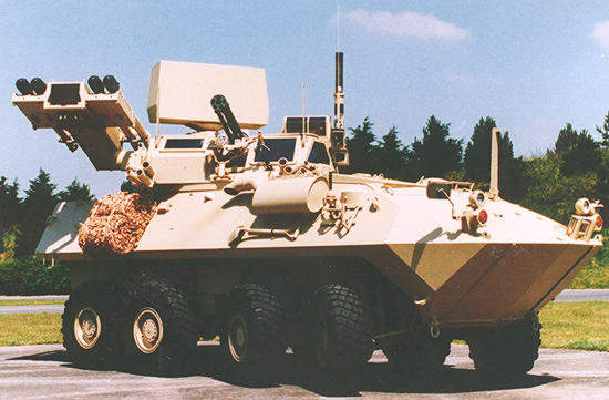 Blazer aif defence system on a LAV-AD Light Armoured Vehicle