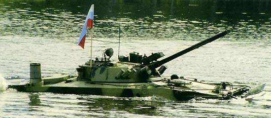 BMP-3 is fitted with two waterjets at the rear of the hull for fording capability.