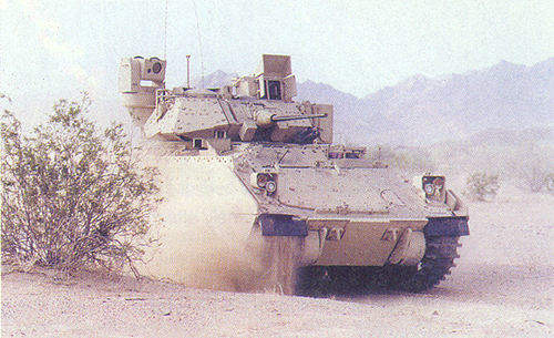 The Bradley M2A3 fighting vehicle.