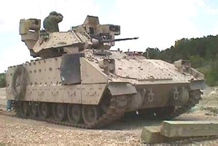 An M2A3 Bradley at Fort Hood.