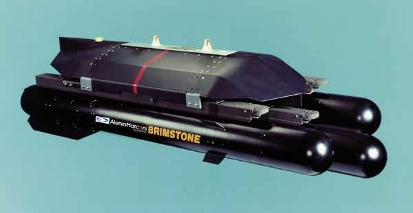 The Brimstone anti-tank weapon system.