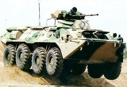 The BTR-80 Armoured Personnel Carrier.