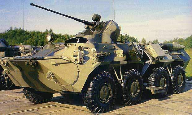 The BTR-80S showing side entrance.