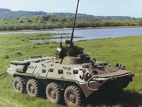 The BTR-80 8x8 armoured personnel carrier.