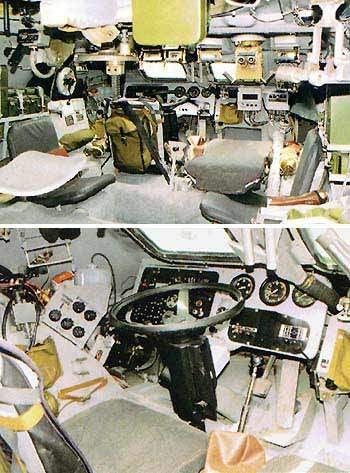The Gunner's and Driver's stations.