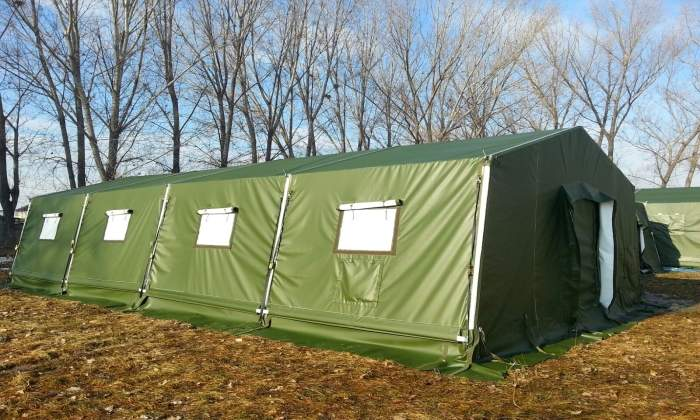carbon hybrid troop shelter with sun shade