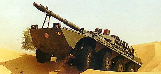 Centauro reconnaissance anti-tank vehicle in a desert