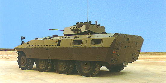 Rear view of a Centauro armoured personnel carrier