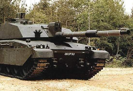 Challenger 2 tank fitted with a L30 rifled tank gun from BAE systems
