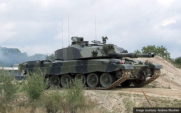 British Army Challenger 2 main battle tank.