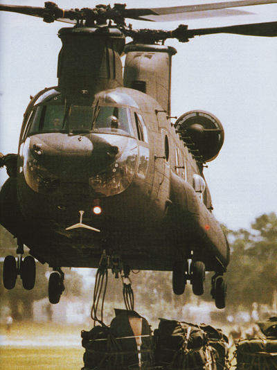 The primary mission of the Chinook is transportation.