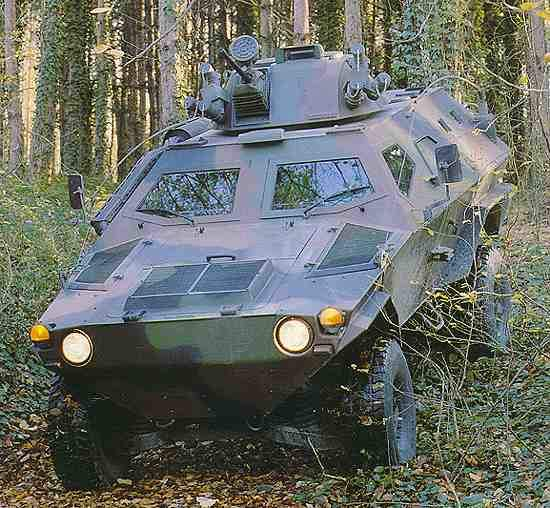 The Cobra light armoured vehicle.
