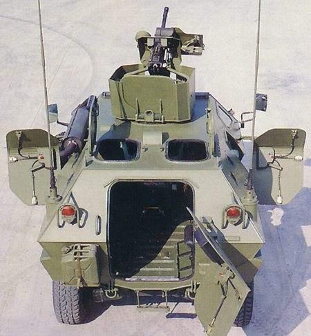 Open rear door of the Cobra fighting vehicle