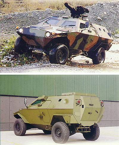 The anti-tank variant (top) and the NBC reconnaissance variant (bottom).