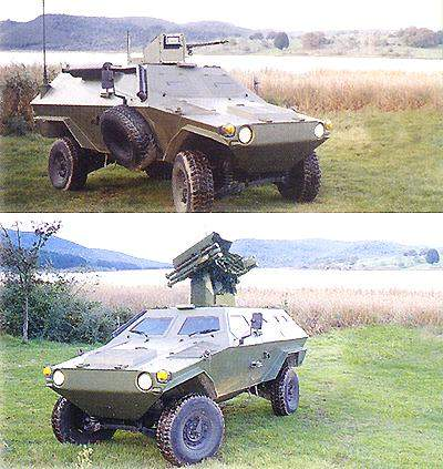 The EOD variant (top) and the anti-aircraft variant (bottom).