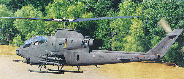 A Super Cobra AH-1F armed with TOW missiles.