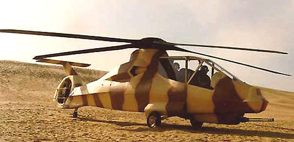 RAH-66 Helicopter on a Dessert Mission