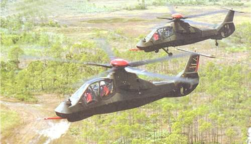 The RAH-66 Comanche is almost four times less easy to observe and six times quieter than the Longbow Apache.