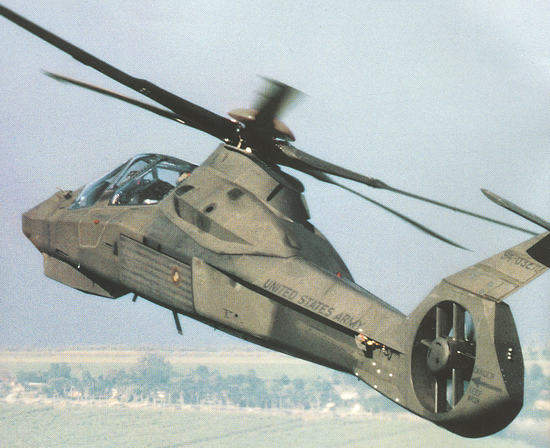 The Comanche RAH-66 reconnaissance and attack helicopter.