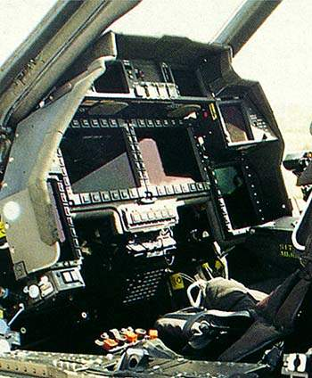 Cockpit interior.