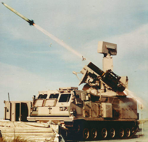 The Crotale NG firing a VT-1 Hypervelocity missile.