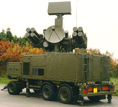 The towed version of the Crotale NG air defence missile system.