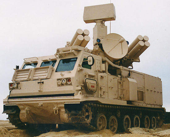 The Crotale New Generation multimission short range air defence missile system.