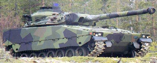 Close up of the CV90105 Anti-Tank Vehicle (TML).