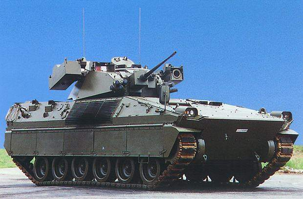 Side profile view of the Dardo Hitfist Fighting Vehicle