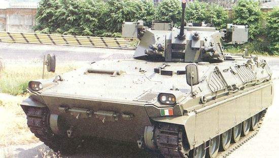 Front view of the Dardo Hitfist Fighting Vehicle