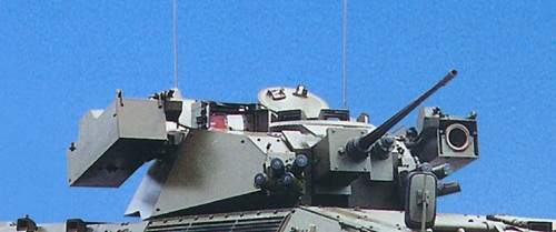 Main machine gun turrets of the Hitfist