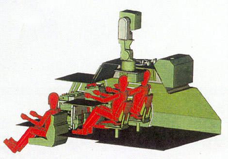Eagle III artillery observation vehicle seating arrangements