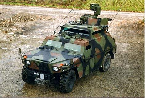 The Eagle III artillery observation vehicle.