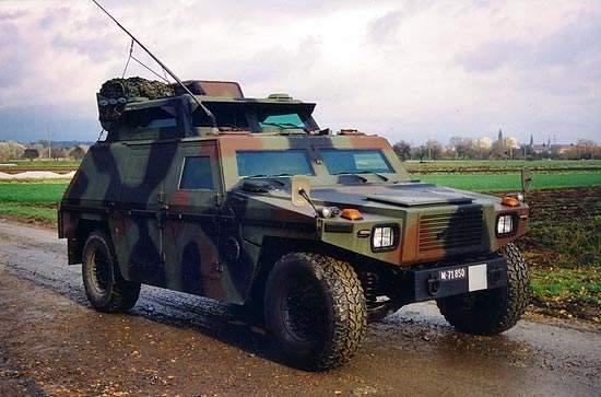 Eagle III Forward Artillery Observation Vehicle on a road