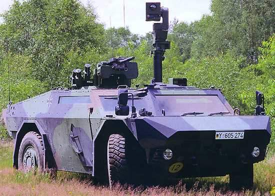 The first Fennek reconnaissance vehicles were delivered to the Dutch army in July 2003 and to the German Army in December 2003.