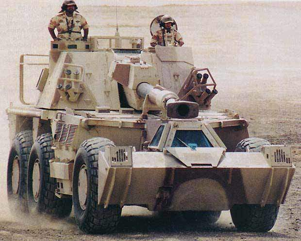 Landmine protected G36 armoured vehicle