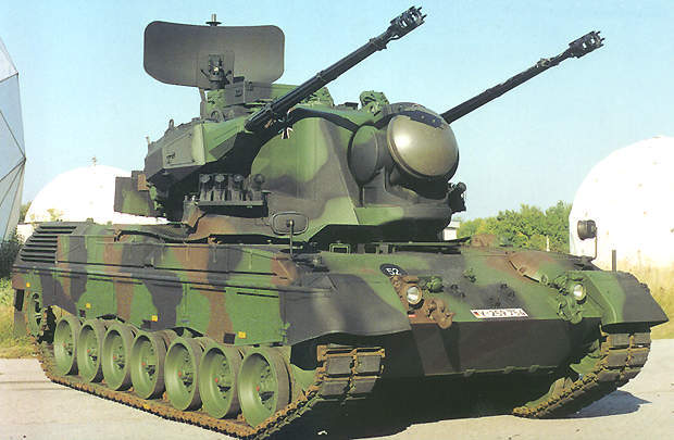 Gepard 35mm GWI anti-aircraft tank