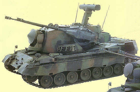 The Dutch PRTL-35mm GWI variant Gepard anti-aircraft tank.