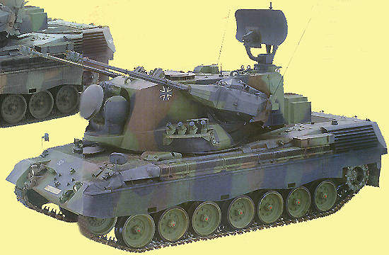 FlakPz 1 A2 variant of the Gepard anti-aircraft tank