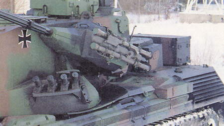 The Gepard anti-aircraft gun system can additonaly be upgraded by the integration of a Stinger surface to air missile system.