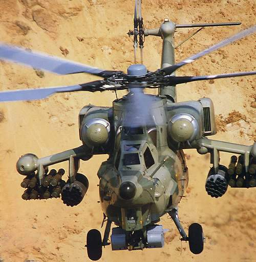 The Mi-28 combat helicopter is known by the NATO codename Havoc.