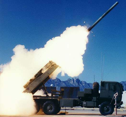 HIMARS firing munitions