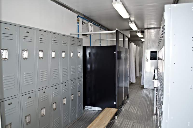 locker room shower trailer