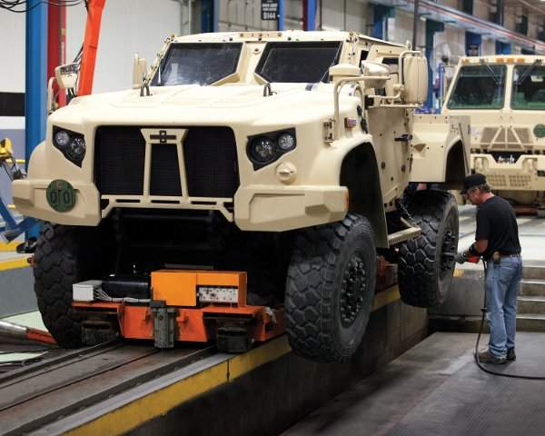 US Army armoured trucks