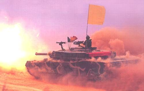 K1/A1 Battle Tank Cannon Firing