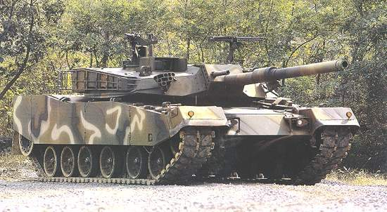 The K1 main battle tank has been in service with the Republic of Korea Army since 1986.