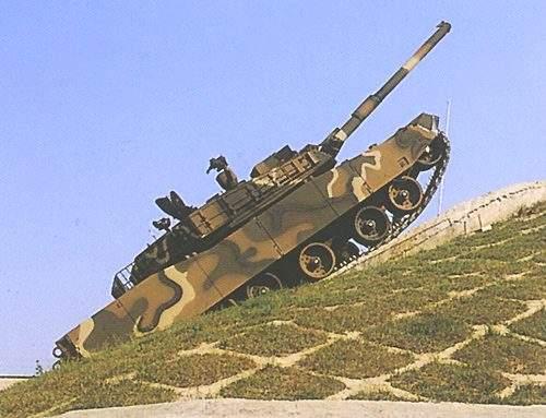 K1 Tank Tackling a 60% Gradient