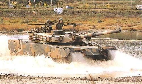 K1 Battle Tank in Deep Waters